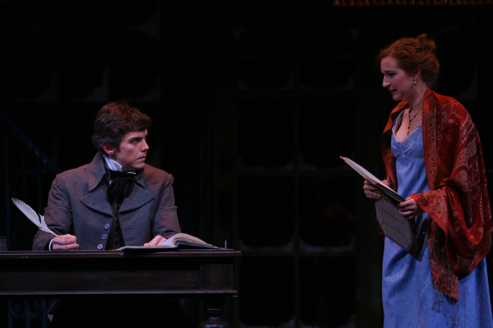 Jarrod Zimmerman (Young Scrooge) with Nora Fiffer (Belle) in A Christmas Carol